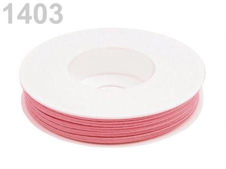 Sujtás zsinór - 3 mm - pünkösdi rózsa (#1403)