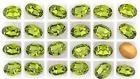 Swarovski ovális kristály - 10x8 mm - olivine