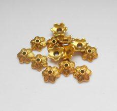 Gyöngykupak - 11*3 mm - antik arany