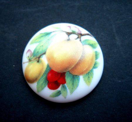 Porcelán kaboson - 30 mm - gyümölcsök 4#