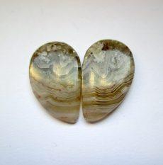 Mexikói csipkeachát kaboson - összeillő pár - 26*16 mm