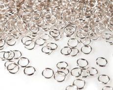 Jump rings - 6 mm - silver - 50 pcs