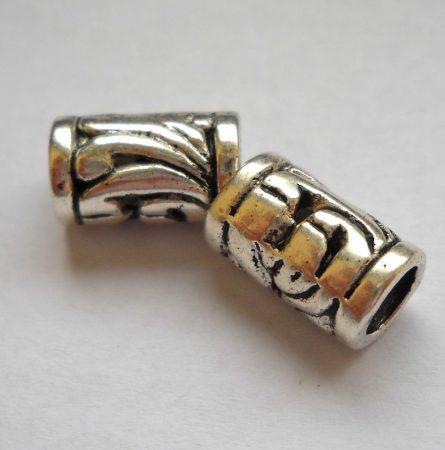 Ezüst színű henger köztes - 10*6 mm