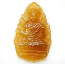 Carved buddha pendant bead
