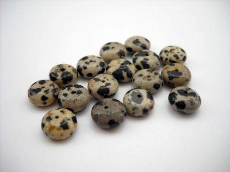 Dalmata jáspis ásványfánk - 10*5 mm