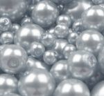 Cseh üveg tekla gyöngy - 4 mm - 50 db/cs - világos szürkéskék