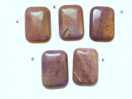 Lila jáspis  kaboson 24 mm