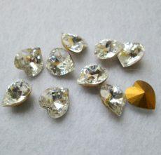 Swarovski Kristály szív - 11 mm - crystal - 3285