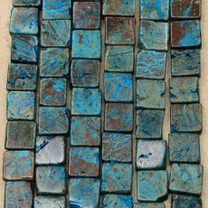 Szivárvány kalszilika négyzet - 10 mm