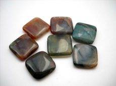 Indian agate square - 18 mm