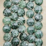Moss agate square - 10 mm