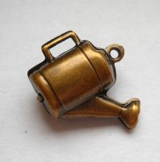 Watering can - brass stamping- 20x16mm
