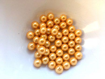 Igazgyöngy - bronz írisz - 5-6 mm