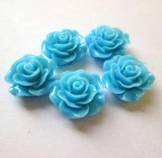 Akril rózsa kaboson -  20 mm - világoskék