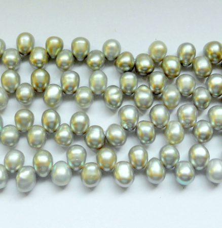 Igazgyöngy - ezüstszürke - 5-6 mm