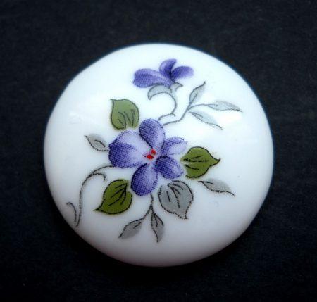 Porcelán kaboson - 25 mm - ibolya