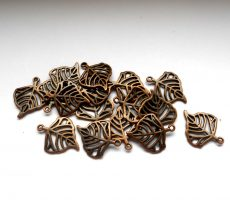 Leaf charm - 22*16 mm - copper
