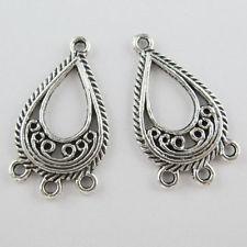 Tibetan silver connector 28*16 mm - 1 pair
