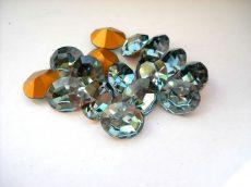 Swarovski ovális kristály - 12x10 mm - indian sapphire