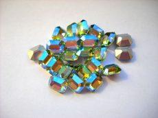 Swarovski szögletes octogon kristály - 10x8 mm - peridot AB