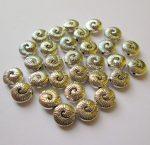 Fémgyöngy  - 10 mm - antik ezüst csiga