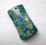 Korall fosszília kaboson - fúrt - 44*25*9 mm