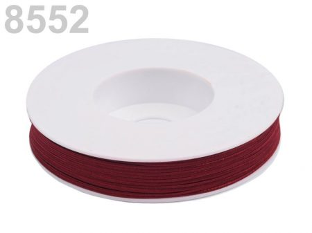 Sujtás zsinór - 3 mm -  vörösbor (#8552)