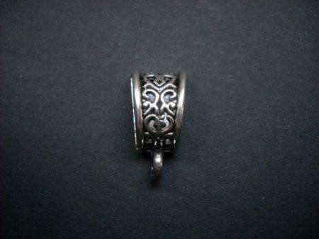 Medálvezető - 20*10 mm - antik ezüst