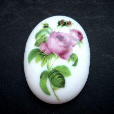 Porcelán kaboson - 40*30 mm - rózsák 6#