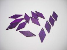 Vörösréz rombusz  - antik lila - 18*8 mm