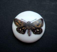Porcelán kaboson -30 mm - pillangók 1#