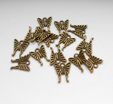 Pillangó medál - 16*15 mm - bronz - 1 pár
