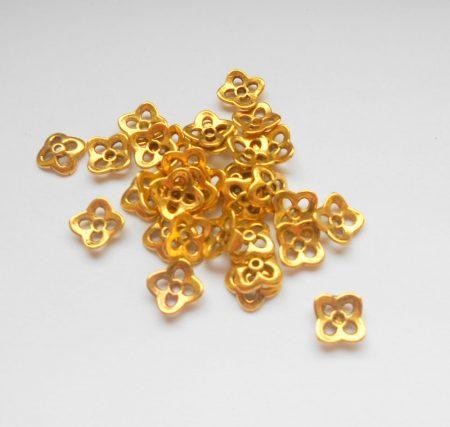 Gyöngykupak - 9*3 mm - antik arany