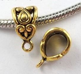 Medálvezető - 12*7 mm - antik arany