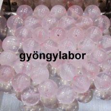 Rózsakvarc ásványgolyó - 6 mm