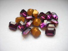 Swarovski szögletes octogon kristály - 10x8 mm - amethyst