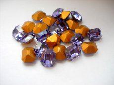 Swarovski szögletes octogon kristály - 12x10 mm - tanzanite