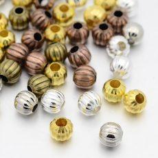 Fémgyöngy - bronz - 8 mm