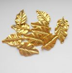 Leaf charm - 30*18 mm - antique gold