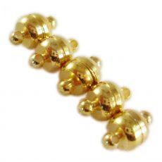 Mágneses arany kapocs - 10x6 mm