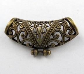 Medálvezető - 35*12 mm - antik bronz