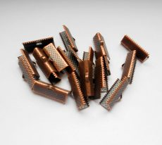 End caps - 25x6 mm - 2 pairs