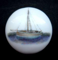 Porcelán kaboson - 30 mm - vitorlás hajók 4#