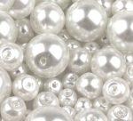 Cseh üveg tekla gyöngy - 4 mm - 50 db/cs - fehér