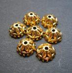 Antik arany gyöngykupak - 8 mm