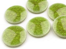 Ceramic glase cabochon - 20 mm - green