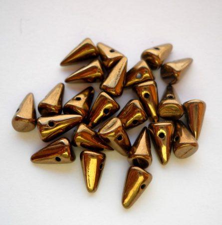 Cseh tüske - 8*5 mm - bronz
