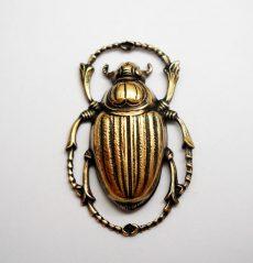 Scarab 32*20 mm - antique golden