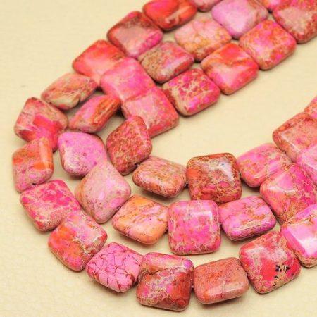 Pink császárkő négyzet - 16 mm