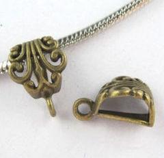 Medálvezető - 16*12 mm - antik bronz